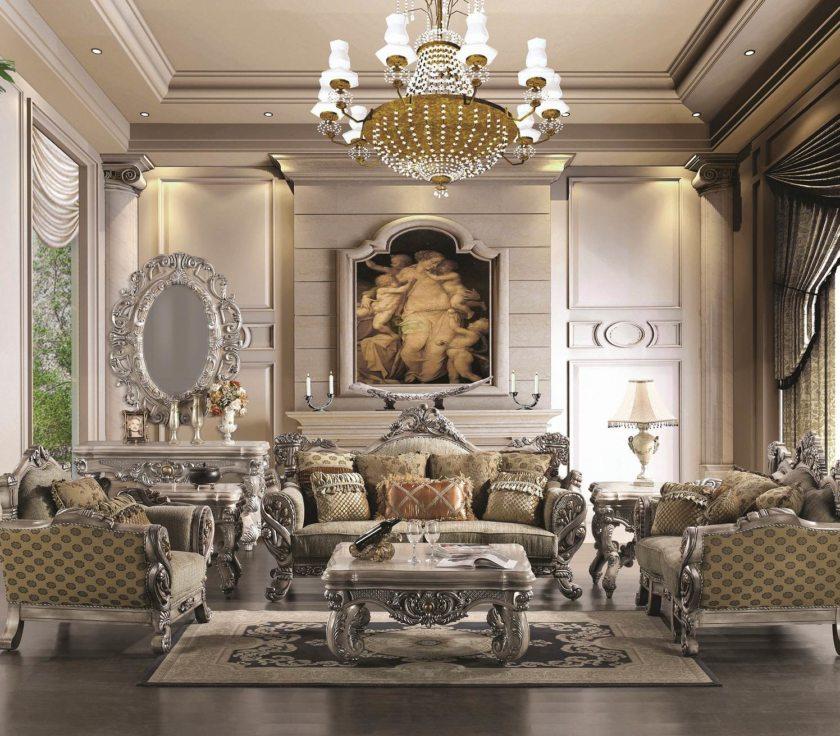 Taisnstūra renesanses dzīvojamās istabas grīdas paklājs