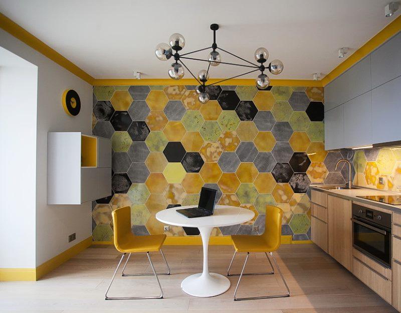 Mur d'accent design personnalisé de la cuisine