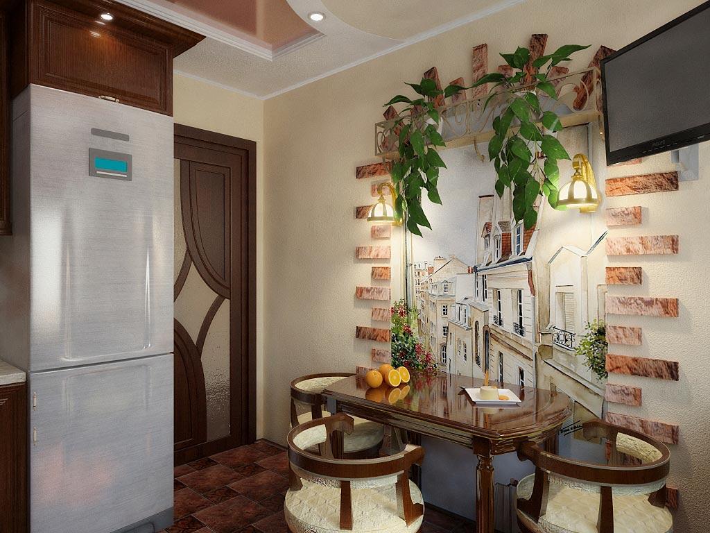 Décoration murale originale dans la salle à manger