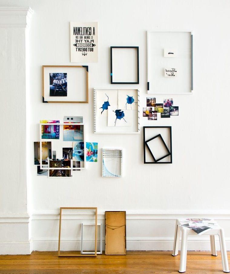 DIY rotājums ar rāmjiem un fotogrāfijām
