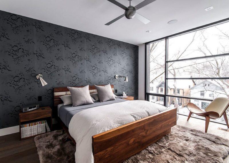 Jūgendstila guļamistaba ar panorāmas logu