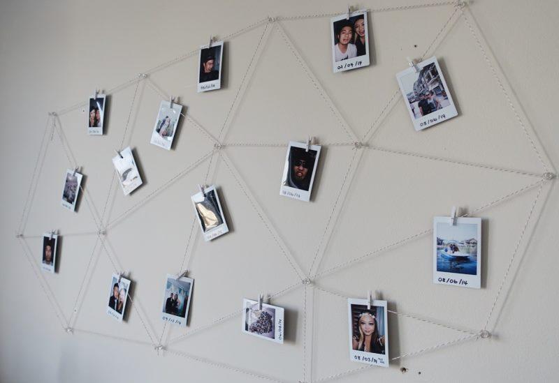 Sienas dekorēšana ar fotoattēliem bez apmalēm