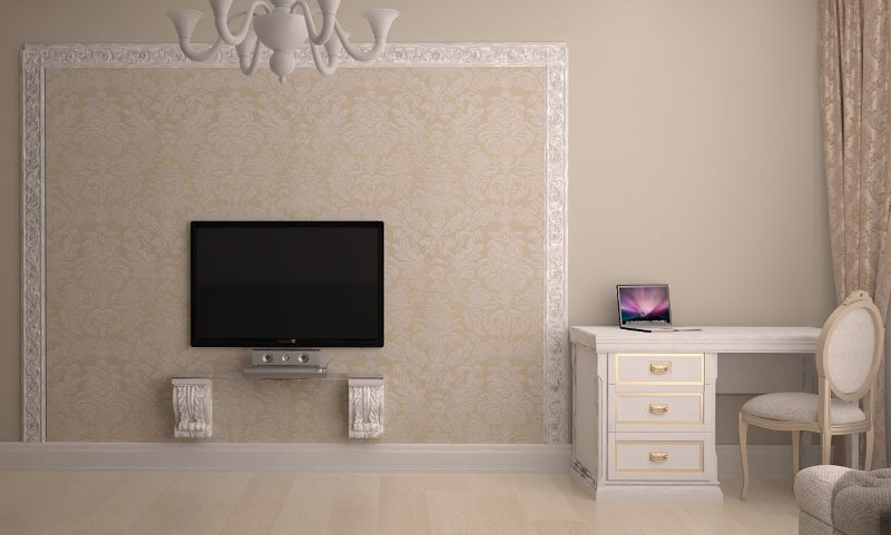 Tapisser un mur avec un panneau de télévision