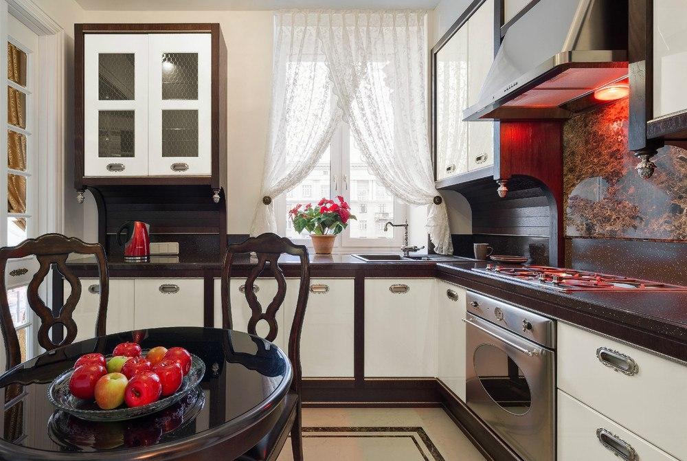 Design de cuisine attrayant dans un appartement moderne