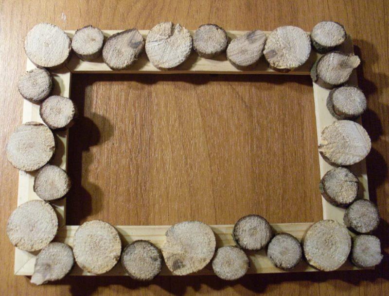 Dekorēšanas foto rāmji ar koka griezumiem