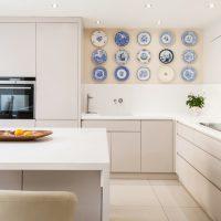 Minimālisma stila virtuves dekors