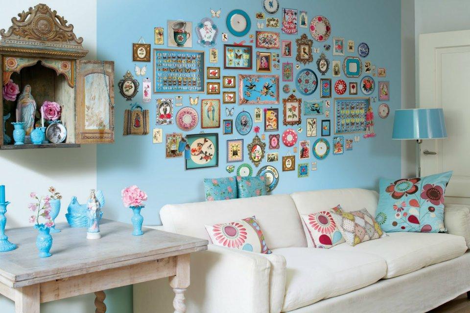 DIY sienas rotājums virs dīvāna