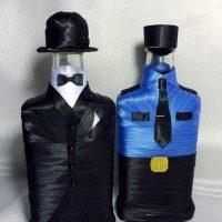 Krāsainu pudeļu dizainu piemēri