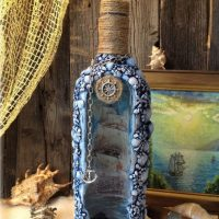 Jūras pudeles rotājums
