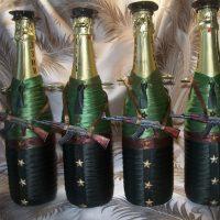 Dekorējot šampanieti militārā tēmā