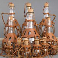 Stikla pudeļu ādas dekori