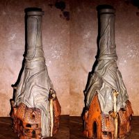Skaists vīna pudeļu dizains