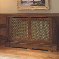 Stylish screen for wood heating radiator