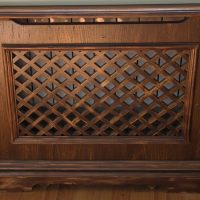 Lattice box on a heating radiator