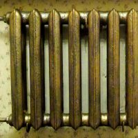 Coloring the antique heating battery