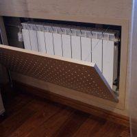Hinged screen radiator