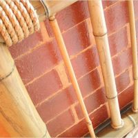 Pipe decoration with thick bamboo