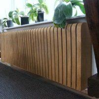 wooden screen on a long battery