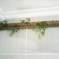 Living branch from a horizontal heating pipe