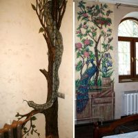 Examples of artistic decoration of heating pipes