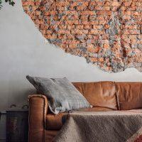 Régi fal a nappali belső
