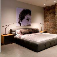 Minimalista stílusú hálószoba belső