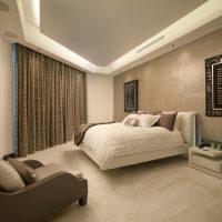 Chambre irrégulièrement conçue