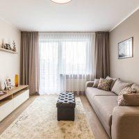 Décoration d'intérieur de salon de style minimaliste