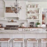 Style classique de cuisine blanche