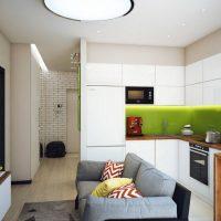 Rétro-éclairage de tablier de cuisine vert