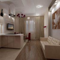 Concevoir une cuisine-salon dans un style moderne