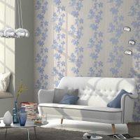 Дизайн на хола с хартиени тапети