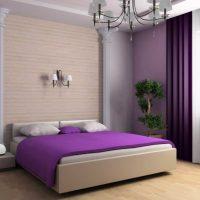 Използването на лилаво в дизайна на спалнята