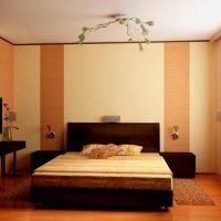 Зониране на спалнята с тапети