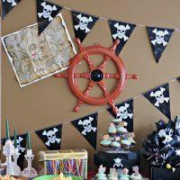 Décoration murale de chambre d'enfant à thème pirate