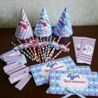 Invitations en carton pour l'anniversaire des enfants