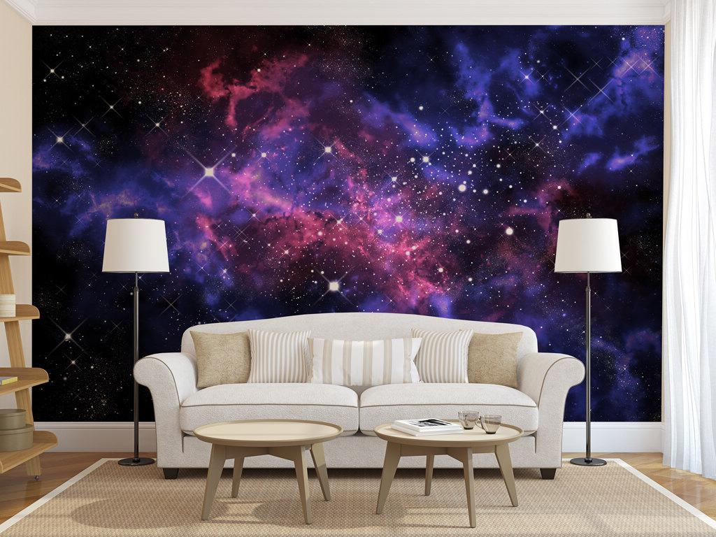 Интериор на всекидневната с фото стенописи