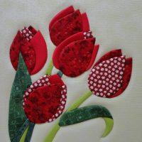 DIY tulpes no auduma materiāla