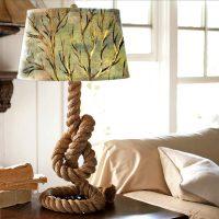 DIY galda lampa