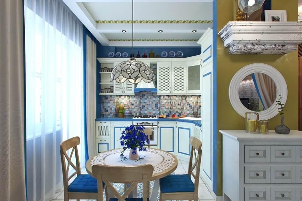 Design de petite cuisine de style méditerranéen