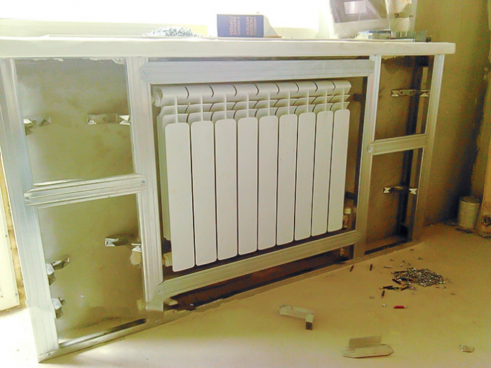 Do-it-yourself installation of heating box duct profiles