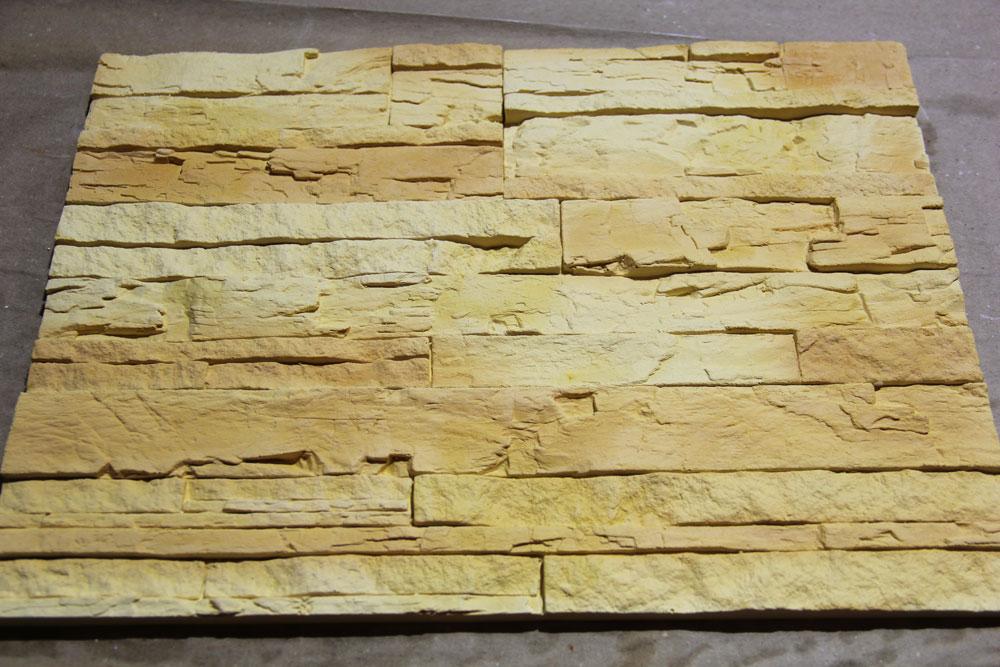 Festett házi készítésű gipszkövek