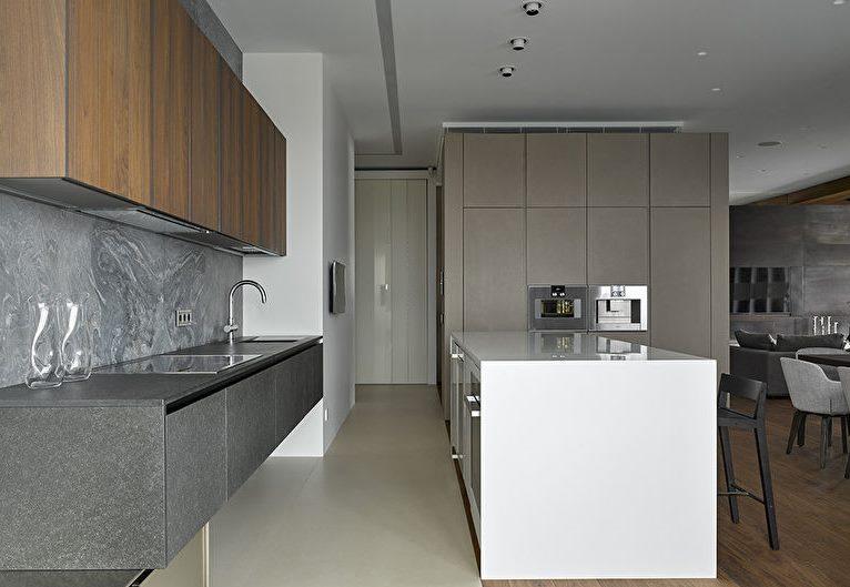 Design moderne de cuisine grise