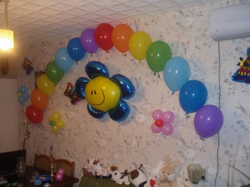 Mur de ballon dans le salon