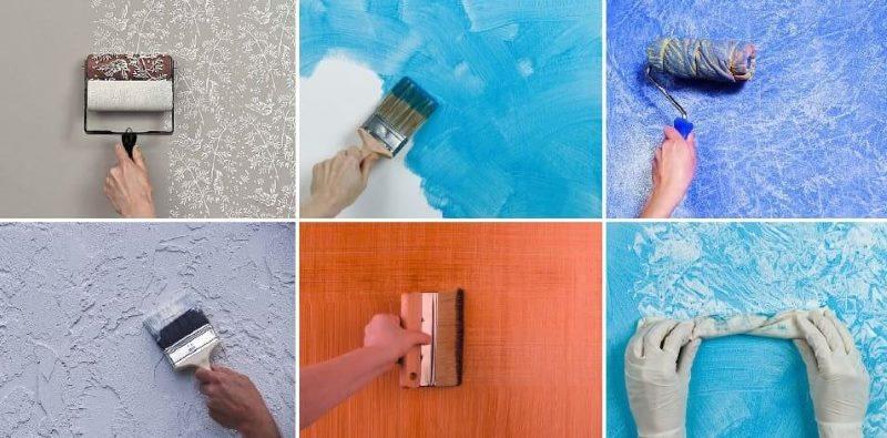 Sienu faktūras krāsošanas metodes