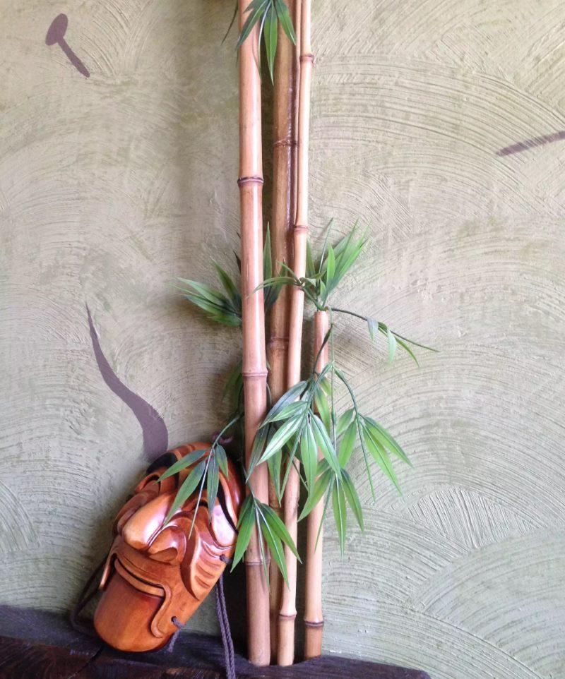 DIY bamboo heating pipe decor