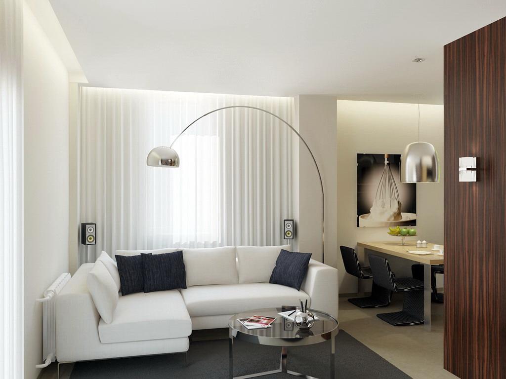 Configuration d'angle de canapé blanc