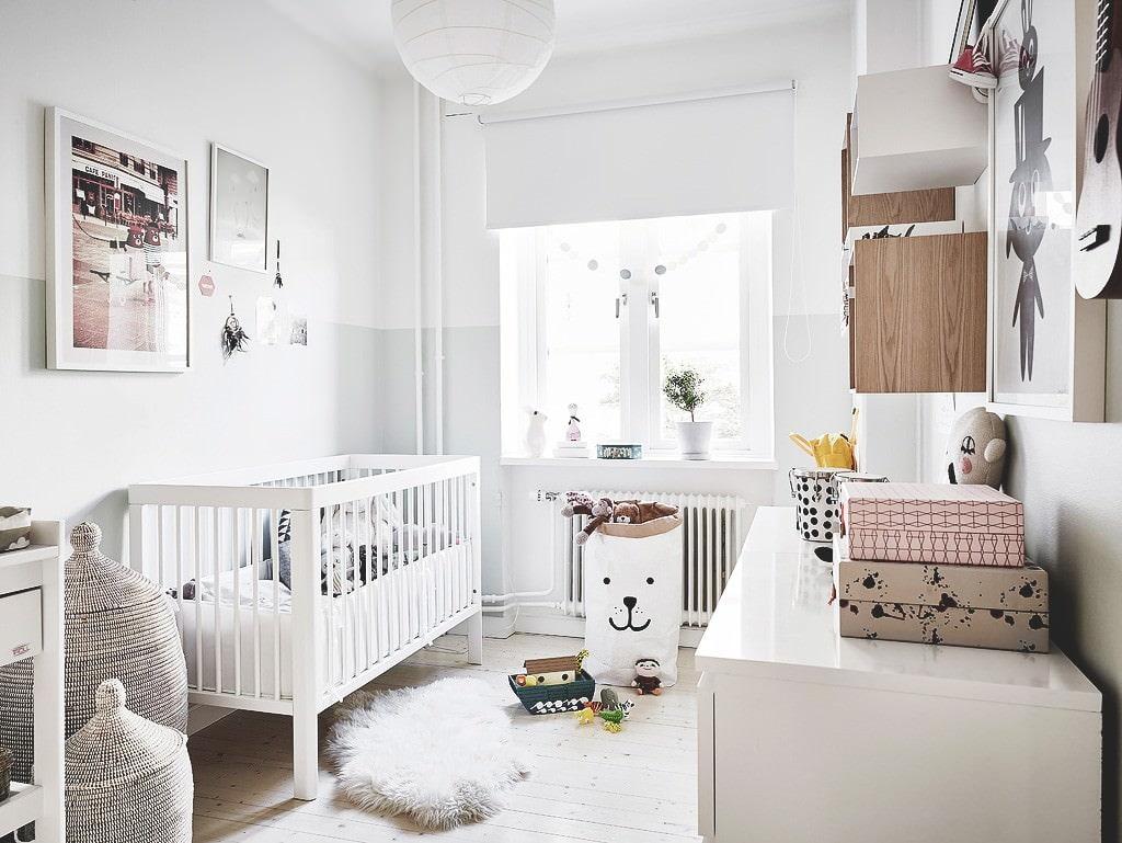 Interijer dječje sobe u skandinavskom stilu