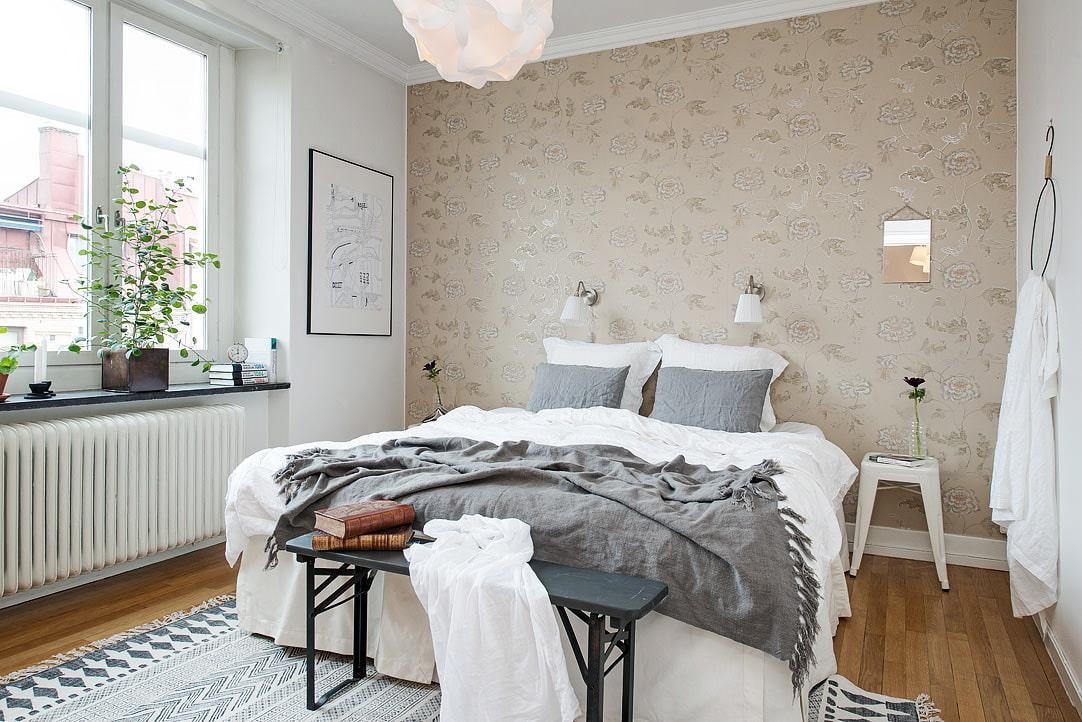 Interijer male spavaće sobe u skandinavskom stilu