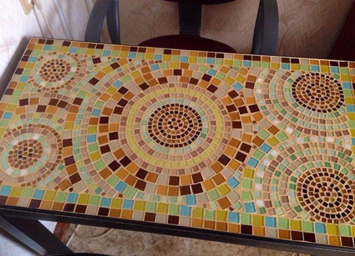 Кухненска маса с мозайка